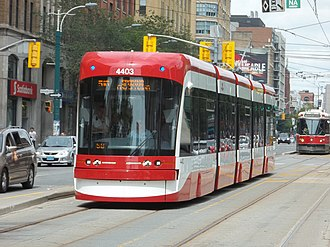 Light rail in North America - The Toronto streetcar system is the busiest LRT system in North America with 8 routes in mixed traffic and 3 in reserved lanes