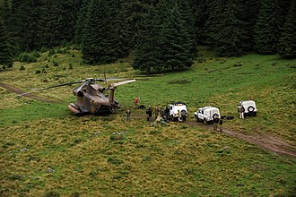 2010 IAF Sikorsky CH-53 crash - The IDF delegation search for the casualties from the helicopter crash in the Carpathian Mountains.