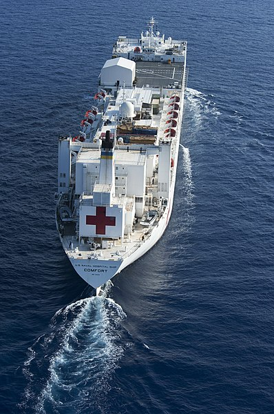 File:Flickr - Official U.S. Navy Imagery - USNS Comfort en route to Kingston, Jamaica for port visit..jpg