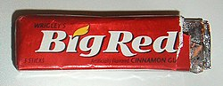 A packet of Wrigley's Big Red