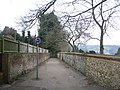 Flint wall and footpath - geograph.org.uk - 1370393.jpg