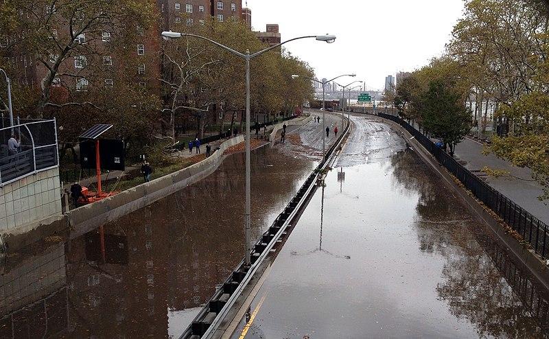 File:Flooding on FDR Drive, following Hurricane Sandy.jpg