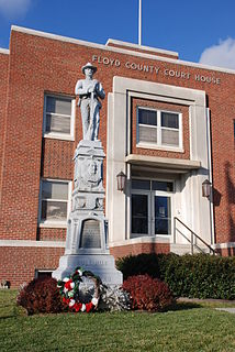 Confederate Statue in Floyd County
