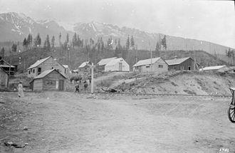 Tête Jaune Cache, British Columbia - Foley, Welch and Stewart Cache in Tête Jaune Cache 1913