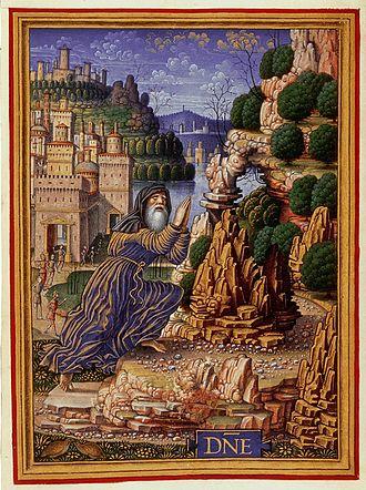 Sforza Hours - King David in Penitence by Birago (fol. 212v)