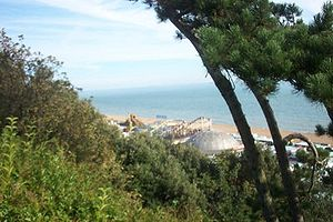 Folkestone - Folkestone-with the now closed down Rotunda amusement park on beach