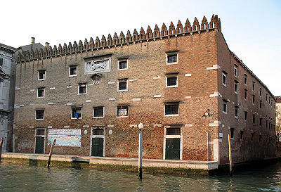 Hirsespeicher am Canal Grande (neben dem Fontego dei Turchi), erbaut ab 1342