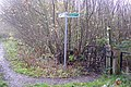Footpath junction on the Greensand Way in the Spinney - geograph.org.uk - 1602095.jpg