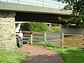 Footpath under the road bridge at 4-30pm - geograph.org.uk - 502995.jpg