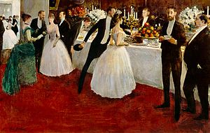 Jean-Louis Forain - The Buffet