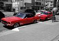 Ford Mustang 1964 e Shelby Mustang GT500.jpg