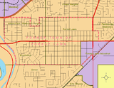 Forest Lawn's boundaries in 1960