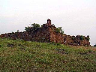 Corjuem Fort building in India