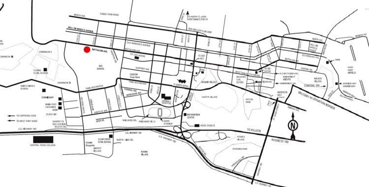 Fort Hood shooting map