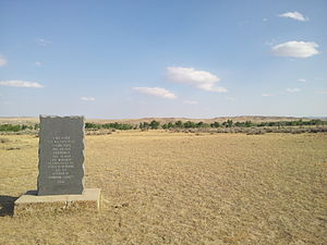 Fort Reno (Wyoming) - Image: Fort Reno and Powder River near Kaycee, Wyoming