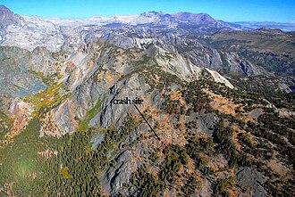 Steve Fossett - Aerial view of the crash site, 2010