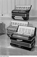 Three Weltmeister accordions