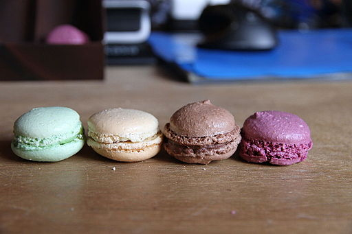 Four macarons, March 2010
