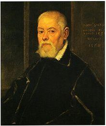 Francesco dei Gherardini ritratto dal Tintoretto nel 1568. Ca' Rezzonico di Venezia.