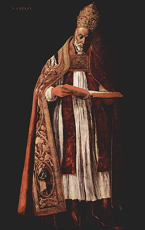 "Pope Gregory I - ""Saint Gregory"" by Zurbaran"