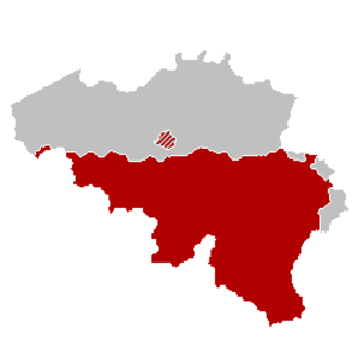 French Community Holiday - The area of the French Community of Belgium
