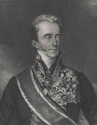 Franz Anton von Kolowrat-Liebsteinsky - Lithograph after a portrait by Johann Ender
