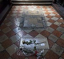 Monteverdi's tomb in the church of Santa Maria Gloriosa dei Frari (Source: Wikimedia)