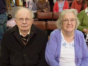 Martyn Lloyd-Jones - Martyn Lloyd-Jones's daughter Elizabeth and her husband, MEP and Christian writer Fred Catherwood, at Eden Baptist Church, Cambridge, 2012.