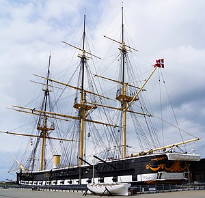 Battle of Heligoland (1864) - Jylland, preserved as a museum ship
