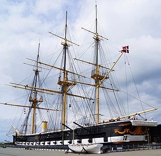 Museum ship - Image: Fregatten Jylland total