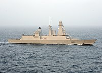 French destroyer Forbin (D620) underway in the Arabian Sea on 31 May 2009 (090531-N-9988F-406).jpg