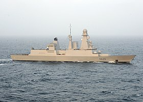 Den franske destroyer FS Forbin (D620) under operation Enduring Freedom