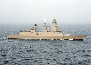 French frigate <i>Forbin</i> lead ship of the Horizon class in the French Navy