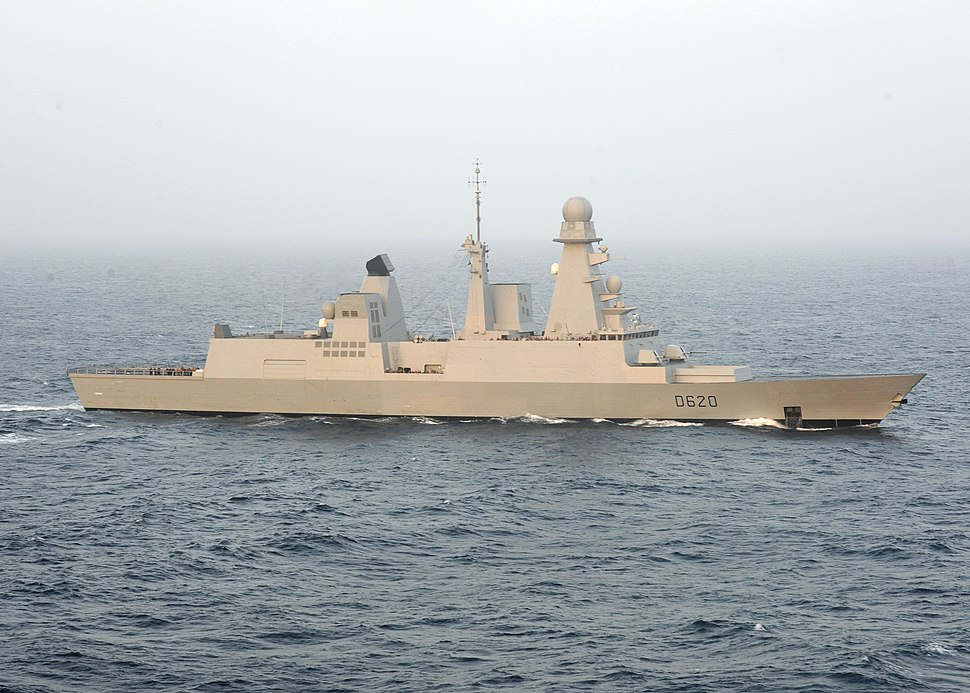 French destroyer Forbin (D620) underway in the Arabian Sea on 31 May 2009 (090531-N-9988F-406)