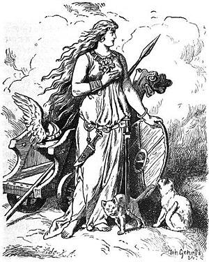 """""""Freya"""" (1901) by Johannes Gehrts. T..."""