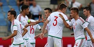 Hungary national under-21 football team - Hungary U-21-national football team goal celebration against Austria