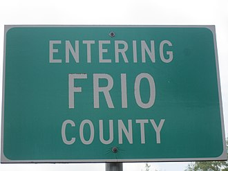 Frio County, Texas - Image: Frio County, TX sign IMG 1896