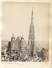 Frith, Francis (1822-1898) - n. 2331 - Spire of St. Stephan's church. Vienna.jpg