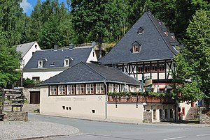 Frohnauer Hammer - The mansion, today a restaurant. On the upper floor there is a bobbin lace room open to visitors