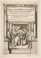 """Frontispiece to Pierre d'Hozier's """"Les noms surnoms qualitez armes et blasons des chevaliers de l'Ordre du Sainct Esprit"""" with Louis XIII dubbing a nobleman kneeling before him, in the presence of several other noblemen MET DP818035.jpg"""