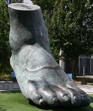 Uwe Seeler - A monument of Seeler's right foot located outside of Volksparkstadion