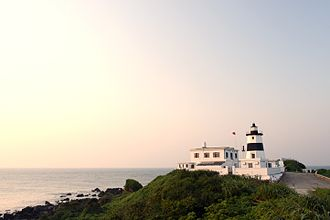 Shimen District - The Fugueijiao Lighthouse at Taiwan's northernmost point