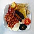 Full English Bigger Breakfast, Sainsbury's Low Hall, Chingford, London, England focus 2.jpg