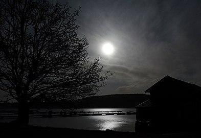 Full moon over Gullmarn fjord at Holma Marina 2.jpg