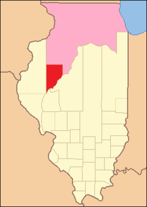 Fulton County, Illinois - Image: Fulton County Illinois 1823