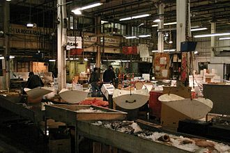 Fulton Fish Market - The interior of the Fulton Fish Market