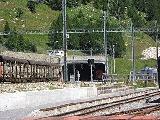 Furka Base Tunnel - Oberwald bypass tunnel (1366 m a.s.l.)