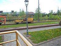 GAF (Gleisinstandhaltungsfahrzeug) im Bahnhof von Bertsdorf.JPG