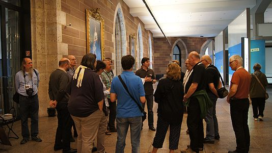 Participants during a guided tour at the State Museum Württemberg