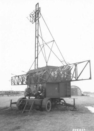 359th Heavy Anti-Aircraft Battery, Royal Artillery - GL Mk II radar receiver van